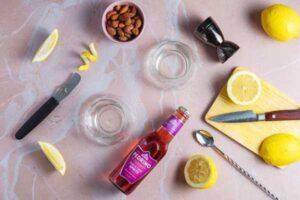 Cherry Bakewell Spritz Preparation